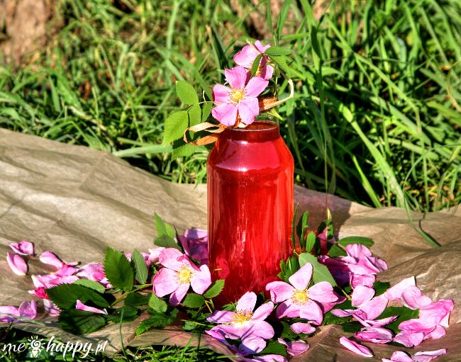 syrop z platkow rozy